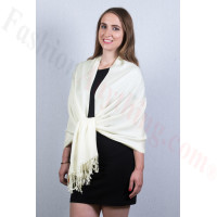 Butter Cream Pashmina Scarf New Dozen (12 Pcs)