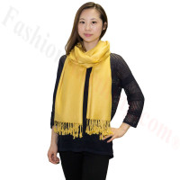 Silky Soft Solid Pashmina Scarf Mustard NEW