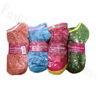 Women Mini Dots Low Cut Socks Dozen (12 Pairs) - Assorted Color