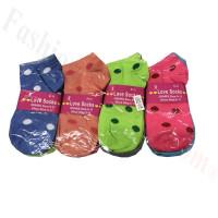 Women Dots Low Cut Socks Dozen (12 Pairs) - Assorted Color