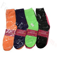 Women Solid Multi Color Crew Socks Dozen (12 Pairs) - Assorted Color