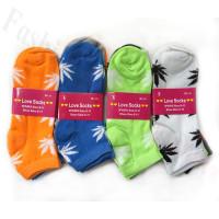 Women Leaf Print Socks Dozen (12 Pairs) - Assorted Color