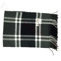 Woven Cashmere Feel Windowpane Scarf Z23 Black / Grey