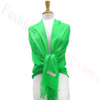 Kelly Green Solid Pashmina Label Scarf
