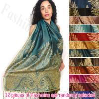 Pashmina w/ Big Paisley Thicker 1 DZ, Asst. Color