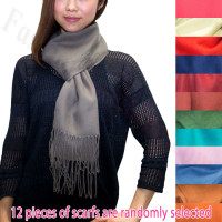 Solid Cashmere Feel Scarf 1 DZ, Asst. Color