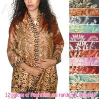 Gorgeous Paisley  Pashmina Scarfs 1 DZ, Asst. Color