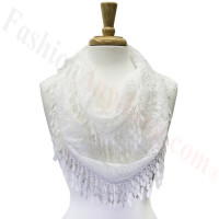 Infinity Lace Scarf White