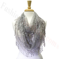 Infinity Lace Scarf Grey
