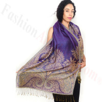 Big Paisley Thicker Pashmina Purple