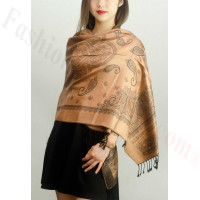 Simple Pasiley Pashmina Golden Brown