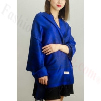 Simple Pasiley Pashmina Royal Blue