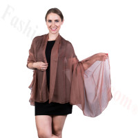 Light Solid Chiffon Shawl Coffee