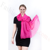 Light Solid Chiffon Shawl Fuschia