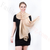 Light Solid Chiffon Shawl Light Tan