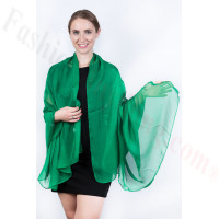 Light Solid Chiffon Shawl Green