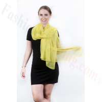 Light Solid Chiffon Shawl Yellow