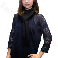 Premium Cashmere Feel Scarf Black