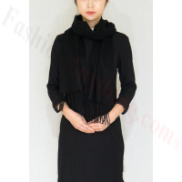 Cashmere Feel Scarf 1DZ, Black