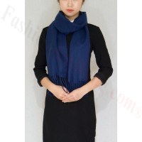 Cashmere Feel Scarf 1 DZ, Navy Blue