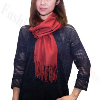 Winter Cashmere Feel Scarf Dark Red