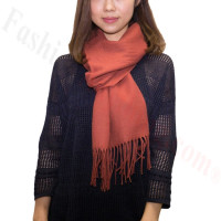 Winter Cashmere Feel Scarf Deep Coffee