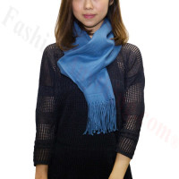 Premium Cashmere Feel Scarf Blue