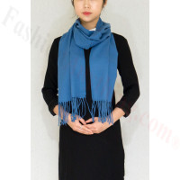 Winter Cashmere Feel Scarf Blue