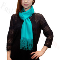 Premium Cashmere Feel Scarf Teal Green