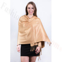 Silky Soft Solid Pashmina Scarf Camel