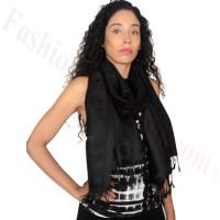 Circle Design Pashmina Black