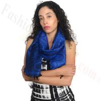 Circle Design Pashmina Royal Blue