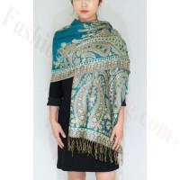 Gorgeous Paisley Pashmina Dark Turquoise