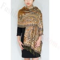 Gorgeous Paisley Pashmina Gold