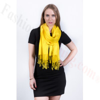 Silky Soft Solid Pashmina Scarf Bright Yellow
