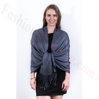 Silky Soft Solid Pashmina Scarf Dark Grey