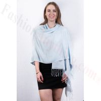 Silky Soft Solid Pashmina Scarf Baby Blue