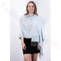 Silky Soft Solid Pashmina Scarf Baby Blue Dozen (12 Pcs)