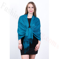 Silky Soft Solid Pashmina Scarf Teal Blue