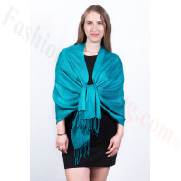 Silky Soft Solid Pashmina Scarf Teal  Dozen (12 Pcs)
