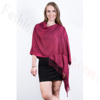 Ruby Solid Pashmina Scarf Dozen (12 Pcs)