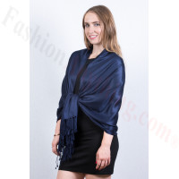 Navy Blue Solid Pashmina Scarf