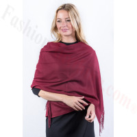 Dark Red Premium Thick Pashmina