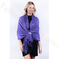 Royal Purple Solid Pashmina Label Scarf