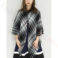 Oversized Blanket Shawls Black/White