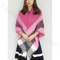 Oversized Blanket Shawls Pink