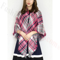 Oversized Blanket Shawls Pink/Grey/Navy