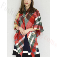 Oversized Blanket Shawls Red/Green
