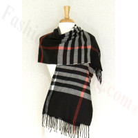 Cashmere Feel Classic Shawl Black