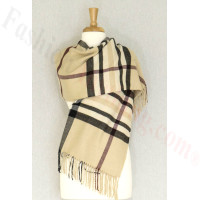 Cashmere Feel Classic Shawl Light Beige
